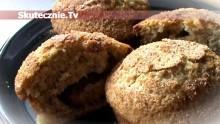 Muffinki pszenno-żytnie z cynamonową śliwką