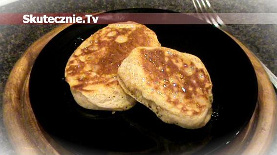 Placuszki pszenno-orkiszowe z rodzynkami (a'la American pancakes)