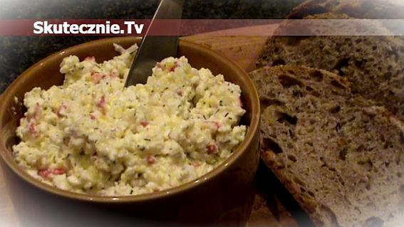 Twarogowa pasta z jajkiem i surimi -do pieczywa