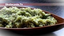 Zielony ryż szpinakowy