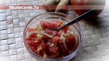 Imbirowa sałatka z pomidorów