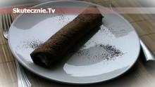 Słodki twarożek w czekoladowym placku (proteinowe śniadanie)