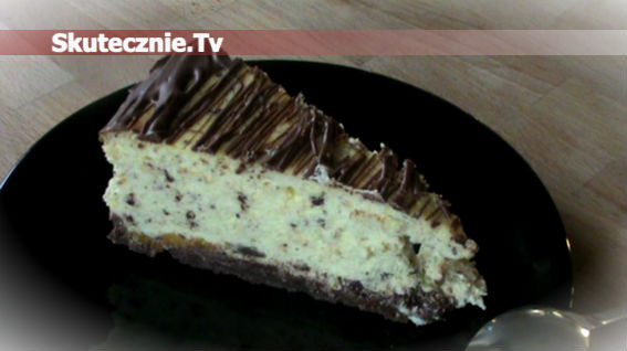 Sernik z czekoladą i brzoskwinią -delikatny jak pianka