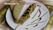 Szaszłyki drobiowe z tortillą, imbirem i cytryną