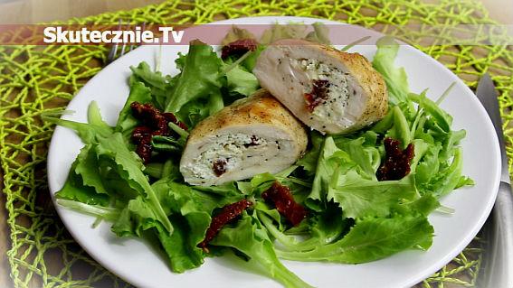 Roladki drobiowe z fetą i suszonym pomidorem