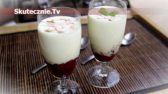 Biała czekolada z malinami -gęsta i kremowa