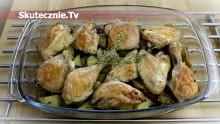 Soczysty kurczak pieczony z warzywami