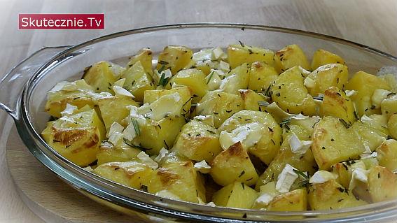 Ziemniaki z serem camembert i rozmarynem