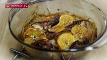 Pieczony kurczak w cynamonie i pomarańczach