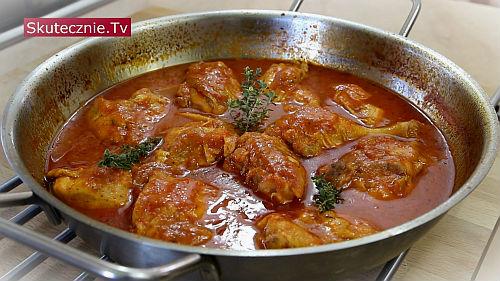 Duszony kurczak w pomidorach