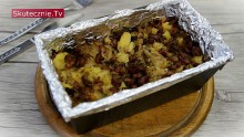 Lazania z kiszoną kapustą, ziemniakami i kiełbasą