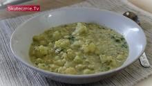 Zupa kalafiorowa z lanymi kluskami i koperkiem