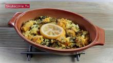 Ryż z kurczakiem, imbirem, kurkumą i jarmużem