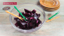 Buraczki z oliwą, czosnkiem i pieprzem