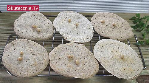 Placki z białej fasoli (lub ciecierzycy)