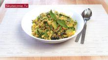 Ryż kalafiorowy z cukinią, groszkiem i miętą (sposób na resztki)