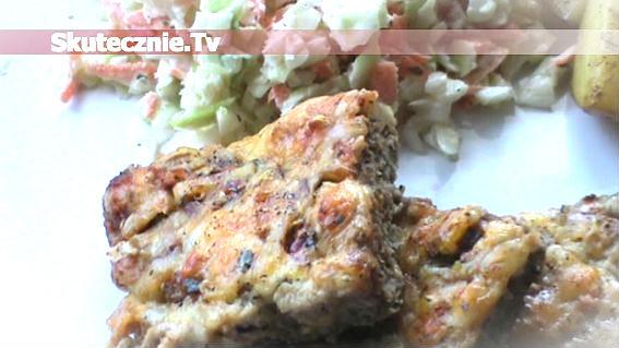 Romby mięsno-serowe zapiekane ze szpinakiem i cebulką