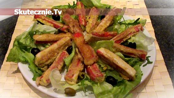 Paluszki krabowe (surimi) w cieście majonezowo-ziołowym