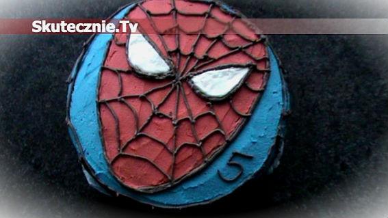 Jak ozdobić tort/ciasto motywem 'Spiderman'