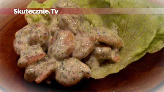 Krewetki w pikantnym sosie pietruszkowo-czosnkowym