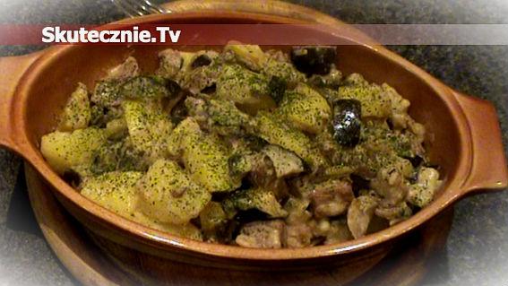 Karkówka z bakłażanem i ziemniaczkami