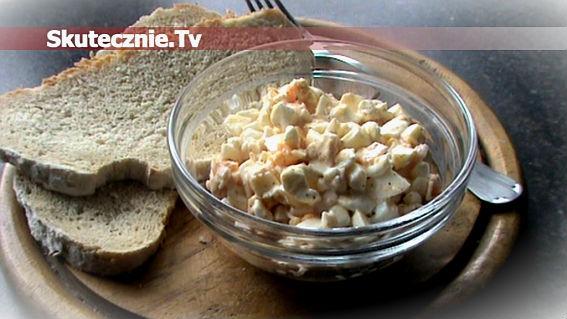 Sałatka proteinowa -jajko, szynka, serek wiejski