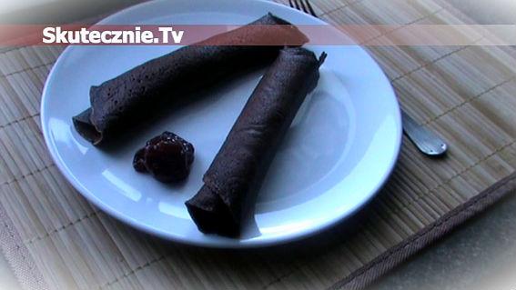 Naleśniki czekoladowe z dżemem