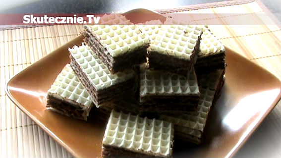 Wafelki z masą czekoladową