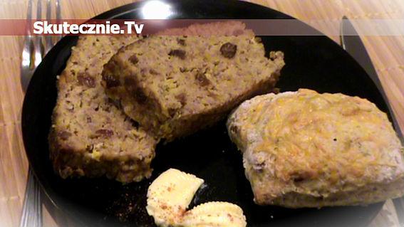 Pieczeń mięsna z gruszką i solonymi rodzynkami