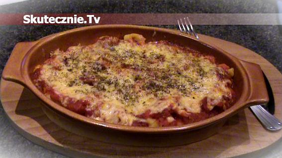 Tortellini zapiekane w sosie pomidorowym