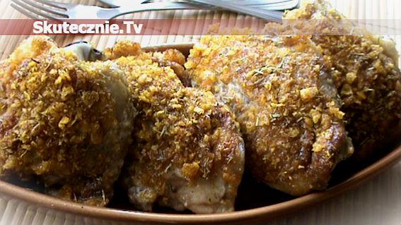 Zapiekany kurczak w majonezie z rozmarynem