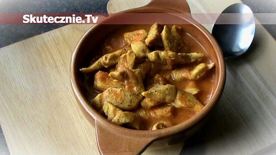 Kurczak w ostrym sosie curry