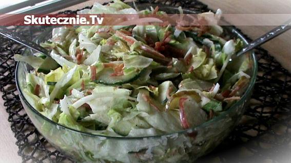 Zielona sałatka -pyszna i chrupiąca