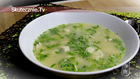 Zupa chrzanowa z indykiem i rukolą