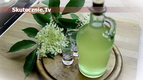 Sok/syrop oraz nalewka/likier z kwiatów czarnego bzu