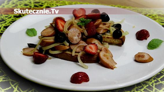 Kiełbaski balsamico z truskawkami