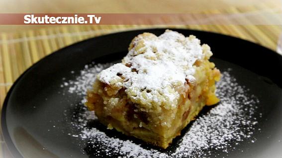 Ciasto z brzoskwinią pod kruszonką
