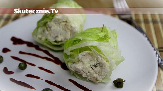 Przekąska proteinowa -burrito z sałaty