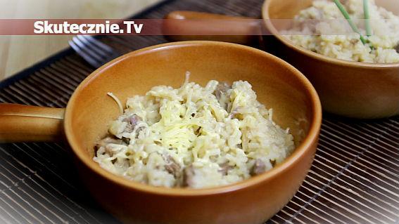 Duszona karkówka z ryżem i cytryną