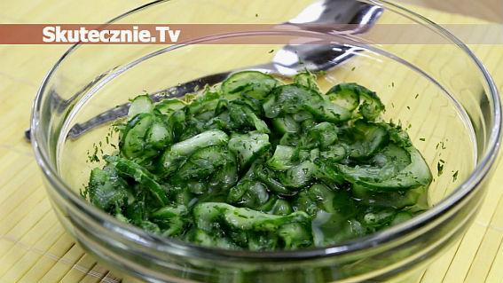 Sałatka grillowa -ogórki w zalewie słodko-kwaśnej
