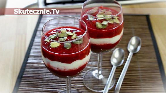 Lekki deser z truskawkami -dietetyczny i pyszny