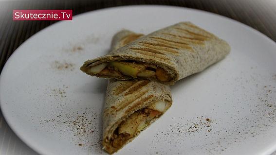 Szarlotki -tortille z jabłkiem i cynamonem