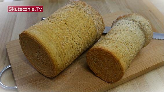 Prosty otrębowy chleb pieczony w puszce