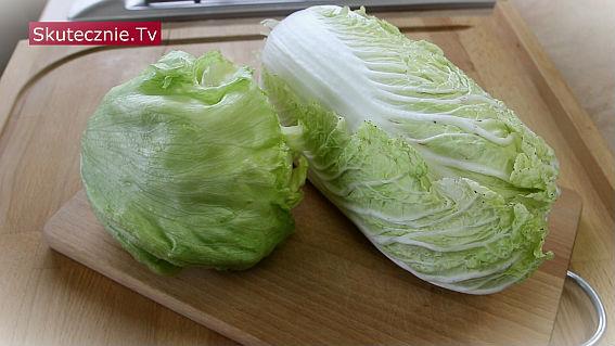 Czy i jak myć kapustę pekińską lub sałatę lodową