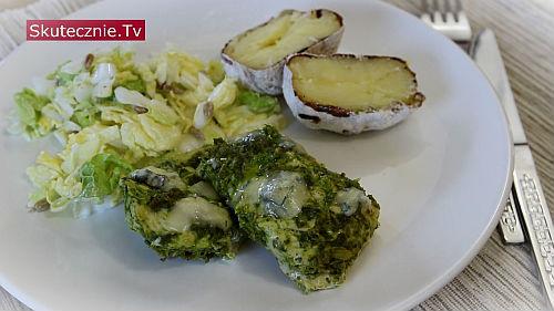 Kotlety drobiowe w zielonym sosie z cytryną i oliwą