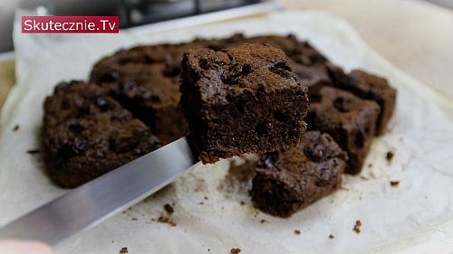 Ciasto czekoladowe z wiśniami (bez miksera)
