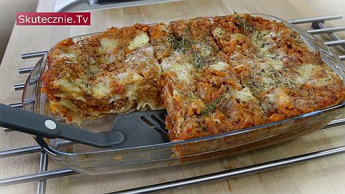 Lasagne z mięsem i warzywami (odchudzona i lżejsza)