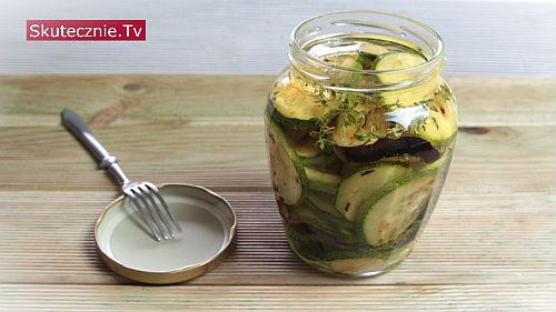 Grillowana cukinia i bakłażan w oliwie