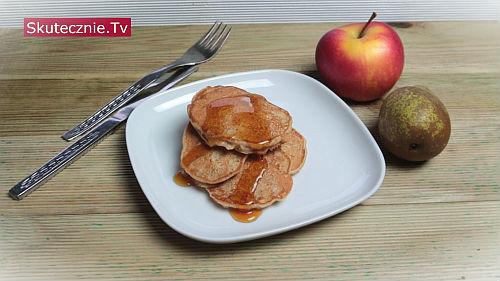 Pełnoziarniste placki z gruszką i jabłkiem