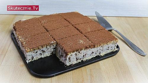 Sernik straciatella vel kostka serowa z czekoladą